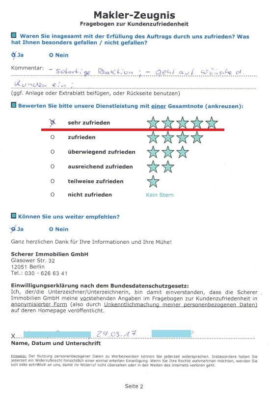 Sehr gute Bewertung von 91142 für Berliner Immobilienmakler