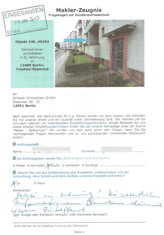 Maklerbewertung für Makler in Berlin Altbauwohnung Adlershof (246)