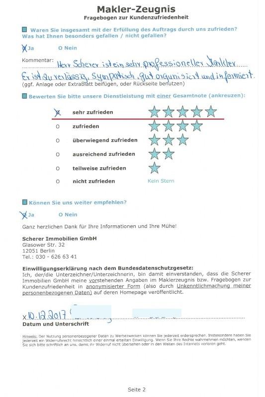Empfehlung Referenz von Käufer 91222 für Makler in Berlin S.2