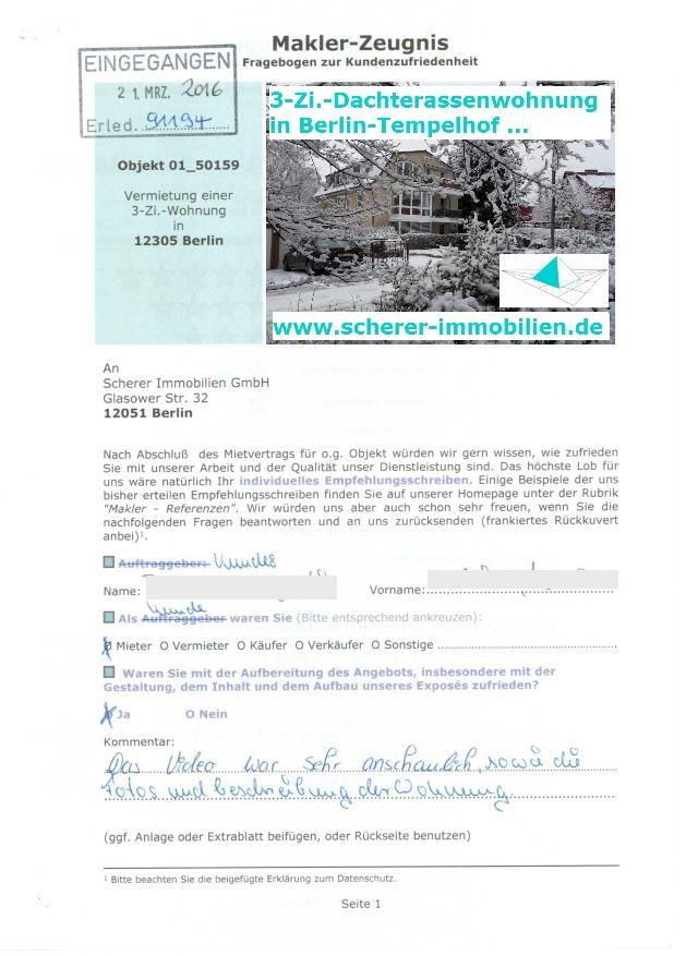 Maklerzeugnis Berlin 91194 - 4 Sterne