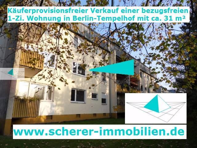 Makler verkauft 1-Zi-Wohnung in Berlin-Tempelhof